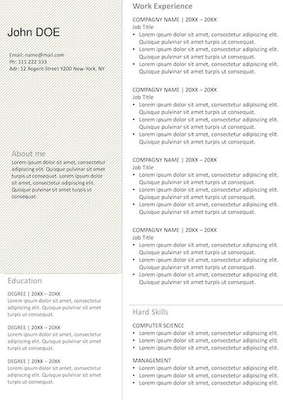 Resume Framed