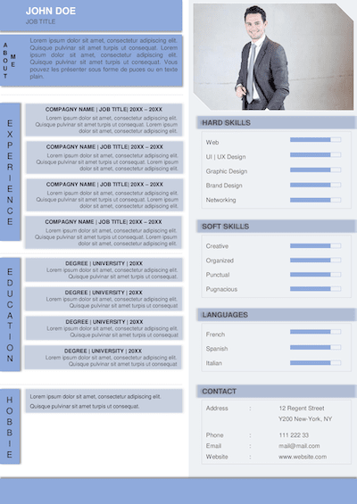 100 Resume Templates Samples Free Doc Word Ppt Instant Download